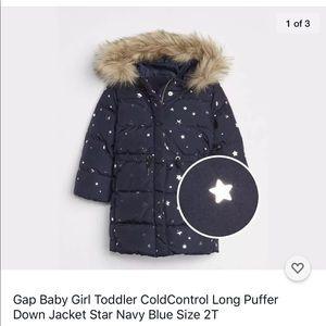 Gap baby girl down puffer 2T